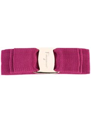 Salvatore Ferragamo Hair Clip On Pink Purple