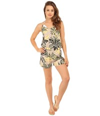 Vince Camuto Crete Flower Romper Cover Up Sand Dune Women's Swimsuits One Piece Khaki