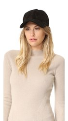 Rag And Bone Marilyn Baseball Cap Black Suede