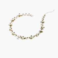 J.Crew Crystal Daisy Crown Necklace Marine Salt