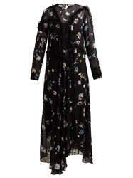 Preen Line Sana Floral Maxi Dress Black Multi
