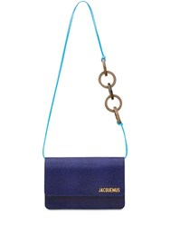 Jacquemus Le Riviera Lizard Embossed Leather Bag Blue