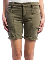 Liverpool Jeans Kylie Cotton Blend Cargo Shorts Olive Night