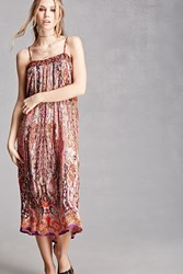Forever 21 Patrons Of Peace Damask Dress Pink Multi