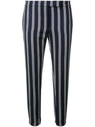 Thom Browne Repp Stripe Skinny Fit Trouser Blue