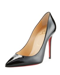 Christian Louboutin Decollette Pointed Toe Red Sole Pump Black