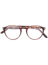 Persol Round Shaped Glasses Brown