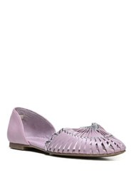 Fergie Nickle Leather Flats Mauve