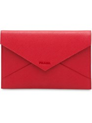Prada Saffiano Leather Document Holder Set Red