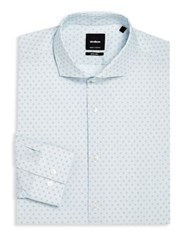 Strellson Adrian Printed Slim Fit Dress Shirt Pastel Blue