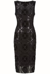 Damsel In A Dress Crochet Dress Black
