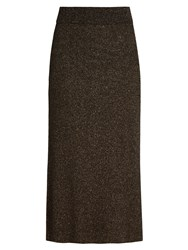 A.L.C. Cook Lame Midi Skirt Black Multi