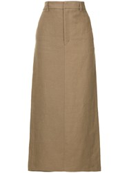Cityshop High Waist Skirt Brown