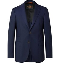 Tod's Navy Slim Fit Wool Blazer Navy