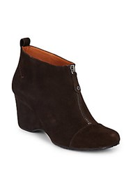 Gentle Souls Ridgual Suede Booties Brown
