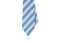 Kiton Men's Striped Silk Necktie Light Blue Navy White Light Blue Navy White