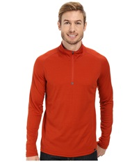 Prana Orion 1 4 Zip Fireball Men's Sweater Orange