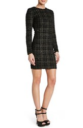 Women's Dress The Population 'Sandra' Sequin Plaid Textured Knit Body Con Dress Nordstrom Exclusive