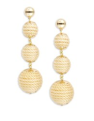 Rj Graziano Graduated Woven Ball Drop Earrings Gold