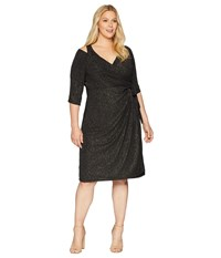 Kiyonna Evaline Wrap Dress Gold Dust