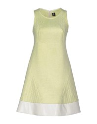 1 One Dresses Short Dresses Women Acid Green