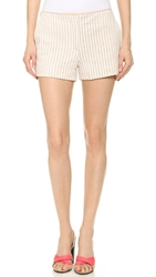 L'agence Shorts With Trim White Sandshell