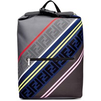 Grey And Multicolor 'Forever Fendi' Backpack