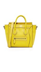 Wgaca What Goes Around Comes Around Celine Nano Tote Previously Owned Yellow