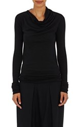 Rick Owens Women's Mock Turtleneck Sleeveless Top Black