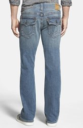 Men's Big And Tall True Religion Brand Jeans 'Billy' Relaxed Bootcut Jeans White Pine