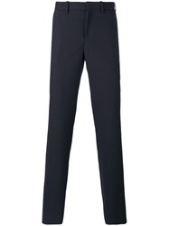 Neil Barrett Skinny Fit Trousers Men Polyester Spandex Elastane Viscose Virgin Wool 54 Blue