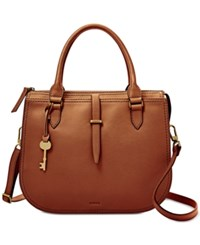 Fossil Ryder Medium Satchel Brown