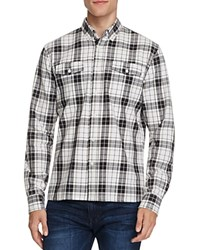Saturdays Surf Nyc Javas Flannel Plaid Slim Fit Button Down Shirt Ivory