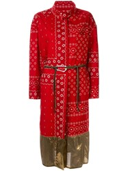Kolor Wrap Style Printed Dress Red