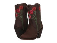 Dingo Rosita Brown Leather Cowboy Boots