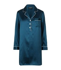 Harrods Of London Pyjama Dress Female Navy