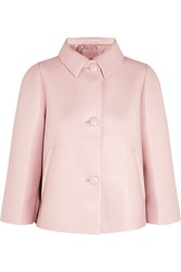 Prada Cropped Leather Jacket Baby Pink