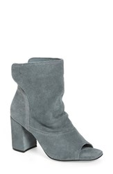 Matisse Women's Gordy Peeptoe Bootie Dusty Blue Suede