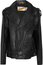 Vetements Schott Perfecto Oversized Leather Biker Jacket Black