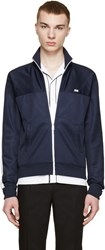Ami Alexandre Mattiussi Navy Retro Track Zip Up Sweater