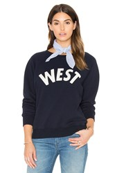 Mother The Square Sweatshirt Navy