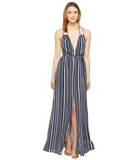 Brigitte Bailey Esma Striped Maxi Dress Navy Ivory Women's Dress Blue
