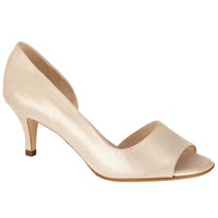 Peter Kaiser Jamala Peep Toe Heeled Sandals Gold Leather