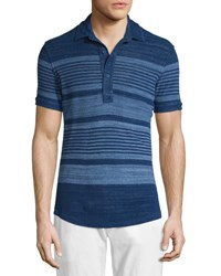 Orlebar Brown Sebastian Multi Stripe Short Sleeve Polo Shirt Mazanine