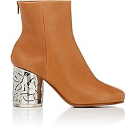 Maison Martin Margiela Women's Metal Heel Leather Ankle Boots Tan