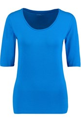 Majestic Stretch Jersey Top Blue
