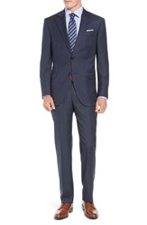 Peter Millar Big And Tall Flynn Classic Fit Plaid Wool Suit Navy