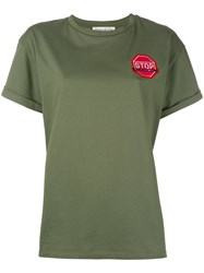 Etre Cecile Stop Hammer Time T Shirt Women Cotton S Green