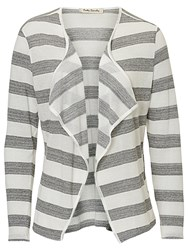Betty Barclay Striped Cardigan Cream Grey