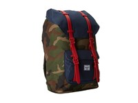 Herschel Little America Woodland Camo Navy Red Rubber Backpack Bags Blue